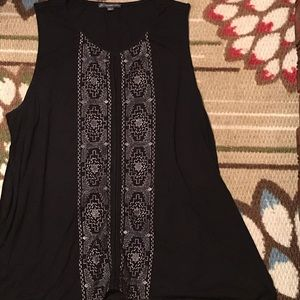 Adrianna Papell Embroidered Sleeveless Top
